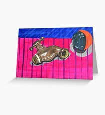 Tap and Ball Greeting Card