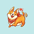 Cute Corgi  by michelledraws