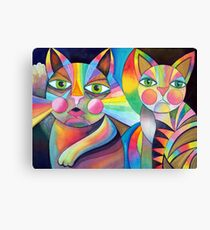 Tubby Cat and friend Canvas Print