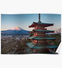 Berg Fuji Sonnenaufgang Poster