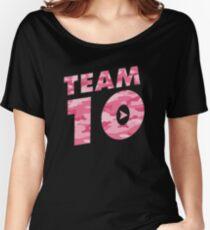 Team 10 Pink Camo: Jake Paul  Women's Relaxed Fit T-Shirt