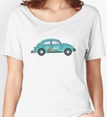 Retro Hippie Car Women's Relaxed Fit T-Shirt