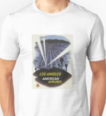 Vintage Travel Poster – Los Angeles by American Airlines Unisex T-Shirt