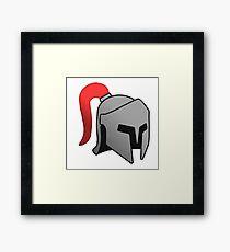 Iron Helmet Framed Print