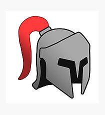 Iron Helmet Photographic Print