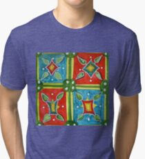Abstract Art - Watercolor Tile Tri-blend T-Shirt
