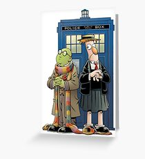 Doctor Who The Muppets Greeting Card