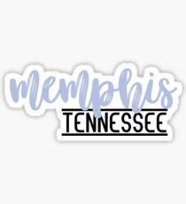 Pegatina Memphis, TN