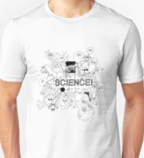 Cute Science Explosion! - Black & White T-Shirt