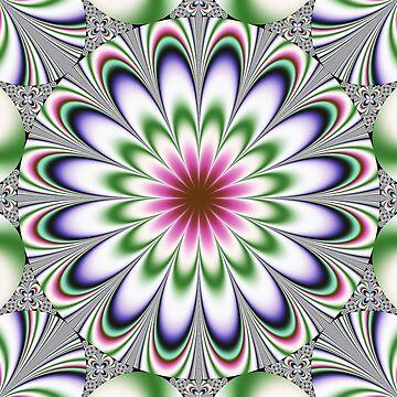 Psychedelic Dimensional Flower by bettycruz