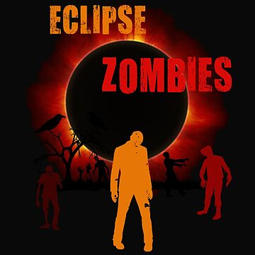 Total Solar Eclipse Scary Zombie Apocalypse Creepy T-shirt by transferarts