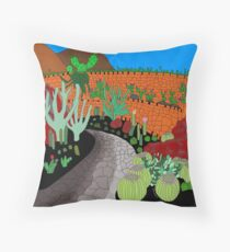 Cactus Garden VERSION 1 - Lanzarote, Canary Islands, Spain Throw Pillow