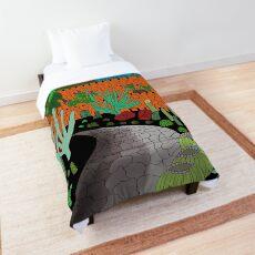 Cactus Garden Lanzarote Canary Islands Spain - Spanish Art - British/Australian Artist Comforter