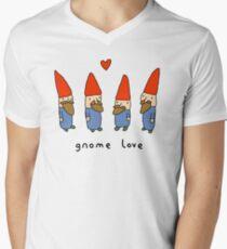 Gnome Love Mens V-Neck T-Shirt