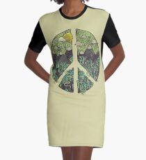 Peaceful Landscape Graphic T-Shirt Dress