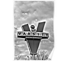 varsity black and white Poster