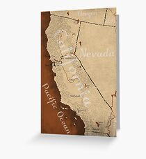 California Fantasy Map Greeting Card