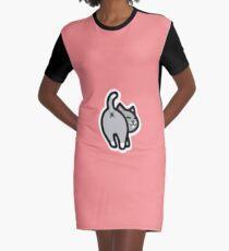 Bitmoji Cat Butt Shirt Graphic T-Shirt Dress