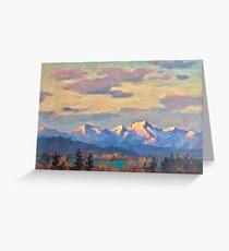 Alpine Glow Greeting Card
