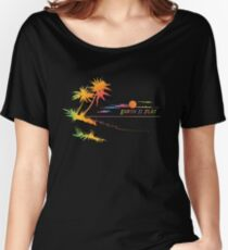 Earth is Flat - Tropical Horizon Women's Relaxed Fit T-Shirt