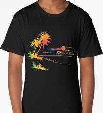 Earth is Flat - Tropical Horizon Long T-Shirt