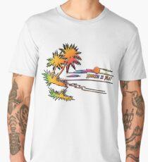 Earth is Flat - Tropical Horizon Men's Premium T-Shirt