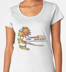 Earth is Flat - Tropical Horizon Women's Premium T-Shirt