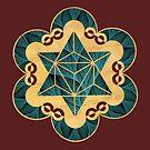 Ewiger Stern - Entwurf von einem tatsächlichen Kornkreis von KATIUSKA