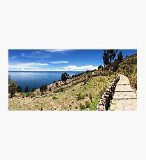 A Picturesque Path - Taquile Island, Peru Photographic Print