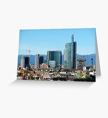 Milan Italy Skyline  Greeting Card