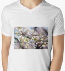 Japanese Cherry Blossoms Men's V-Neck T-Shirt
