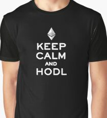 Keep Calm and Hodl Ethereum Graphic T-Shirt