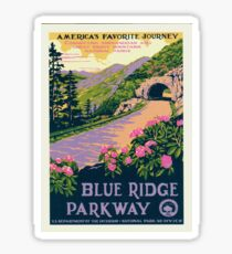 Vintage Travel Poster – Blue Ridge Parkway Sticker