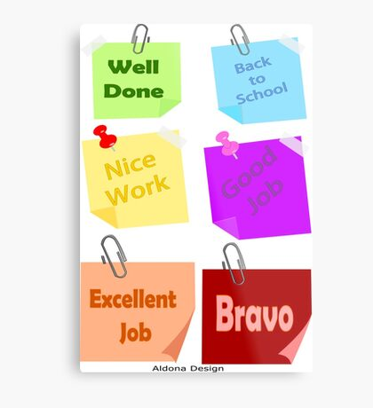 Back to school & Teachers Stickers Metal Print