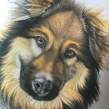 Dog Portrait by Artanimalier