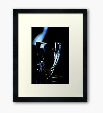 A glass without wine Framed Print