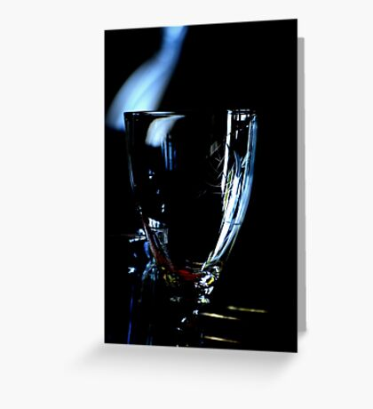 A glass without wine Greeting Card