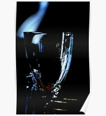 A glass without wine Poster