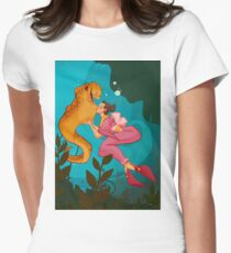 A Girl and her Eel Women's Fitted T-Shirt