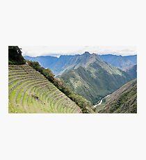 Inca Terraces - Wiñay Wayna Ruins, Peru Photographic Print
