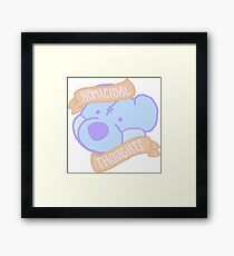homicidal thoughts Framed Print