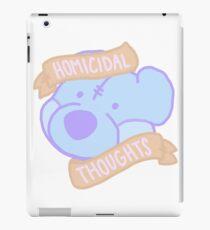 homicidal thoughts iPad Case/Skin