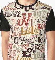 Vintage Love Typography Design Graphic T-Shirt