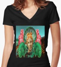 Aphrodite By The Sea Women's Fitted V-Neck T-Shirt
