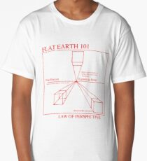 Flat Earth Designs - Flat Earth 101 Law of Perspective Long T-Shirt
