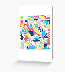 Colour Scatter Greeting Card