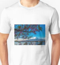 Mount Fuji flowers Unisex T-Shirt