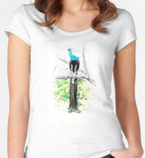 Peacocks in the tree Women's Fitted Scoop T-Shirt