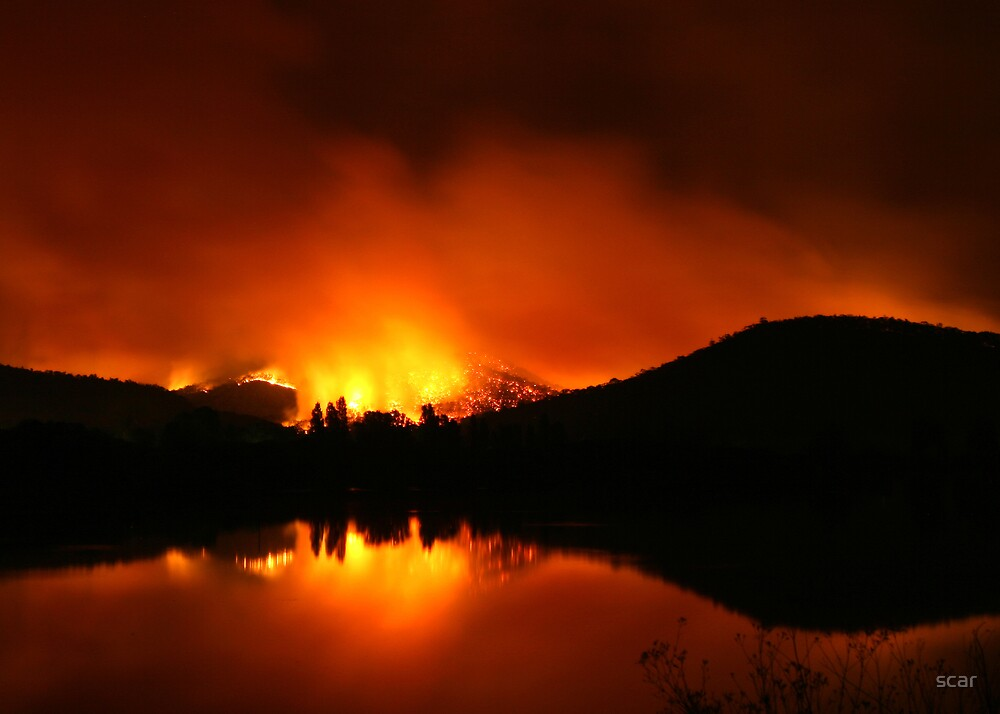 bushfire, mt beauty by scar
