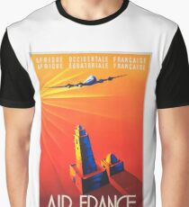 Vintage Travel Poster – Air France Graphic T-Shirt